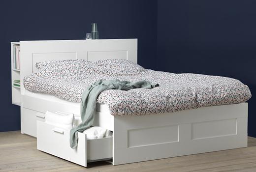 Кровати ИКЕА с секциями для хранения