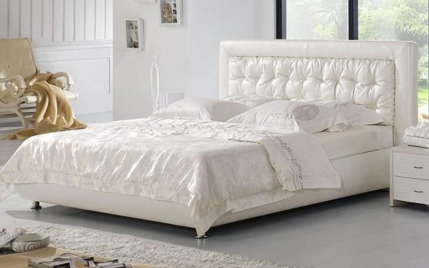 Кровати элитные кожаные