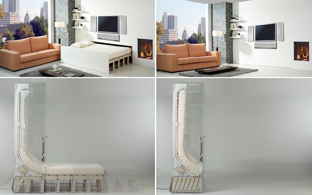 Кровати, встроенные в стену