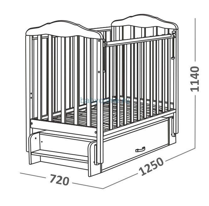 Кроватка с ящиком