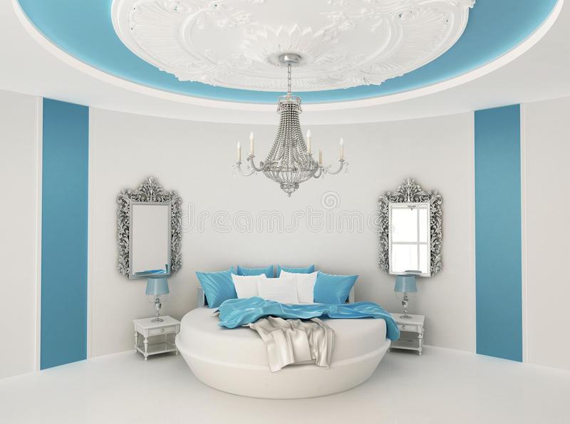 Круглая кровать в барочном интерьере