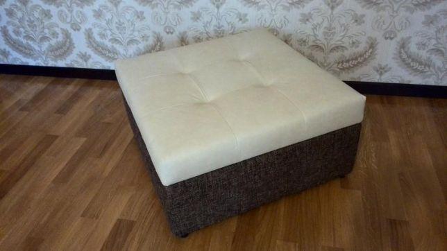 Ламелевая кровать-пуф