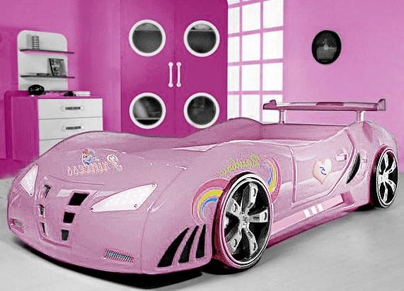 Машина розовая