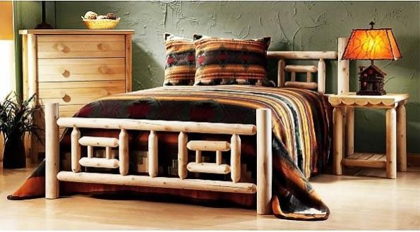Мебель из бревен отлично подходит к деревенским, рустикальным, охотничьим интерьерам