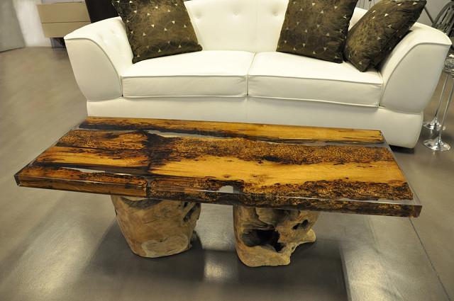 Мебель из дерева и эпоксидной смолы