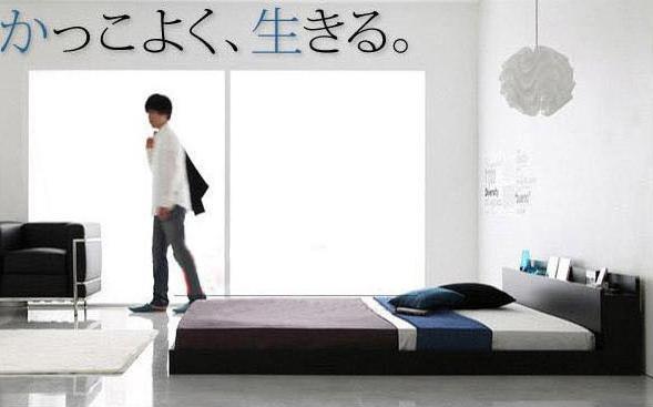 Мебель на полу без ножек для спальни