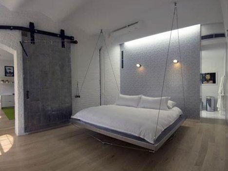 Мебель подвешенная на веревки