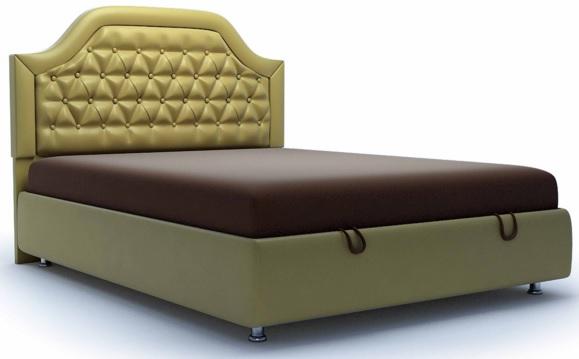 Мебель с красивым золотым изголовьем