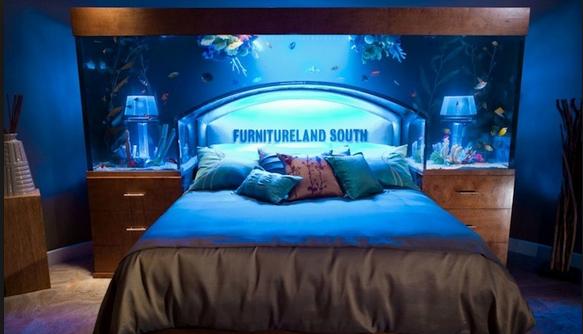 Мебель со встроенным аквариумом