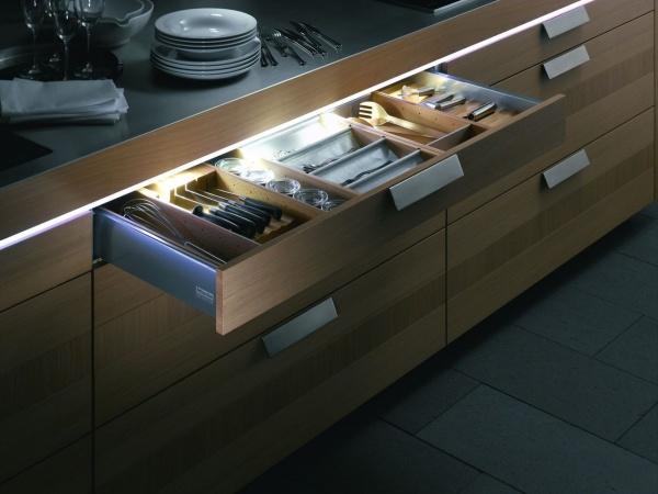 Мебельные светильники различаются и внешним исполнением