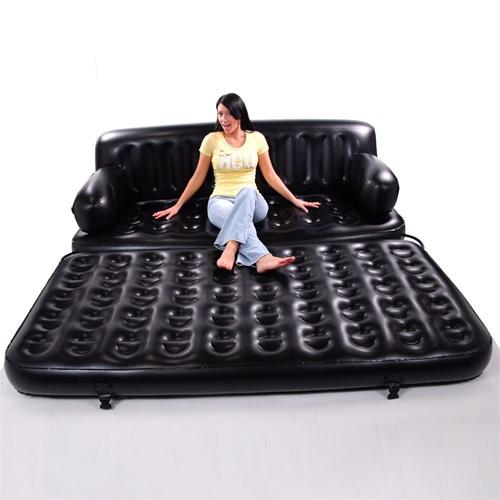 Многофункциональный черный диван