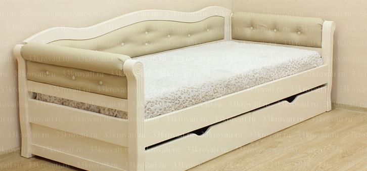 Мягкие бортики односпальной детской кровати