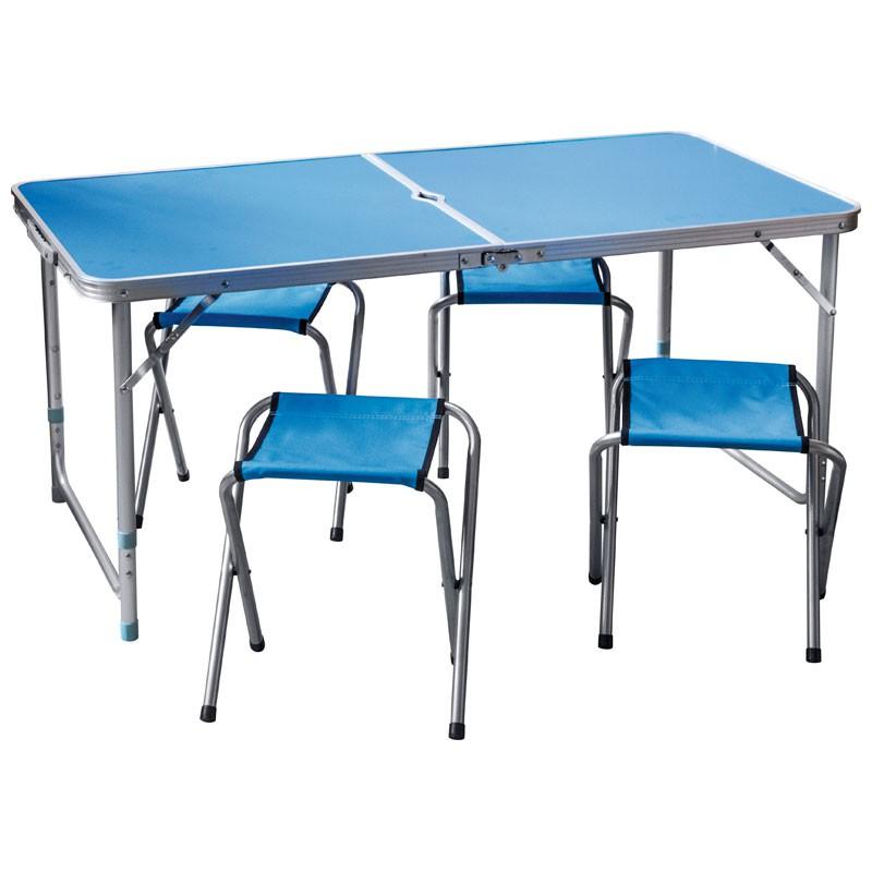 Набор мебели для отдыха синего цвета