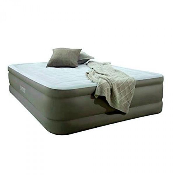 Надувная кровать двуспальная со встроенным насосом