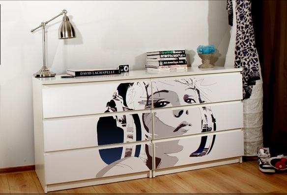 Наклейки для мебели быстро набирают свою популярность
