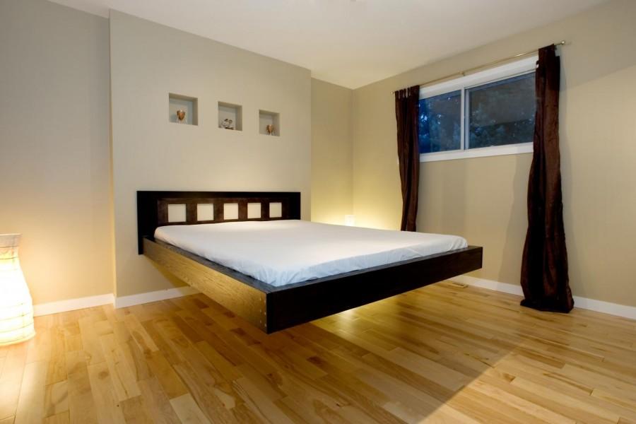 Необычное место для монтажа спального места