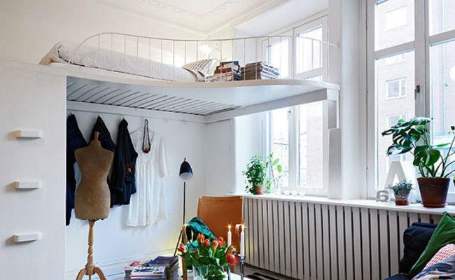 Необычное решение в спальне