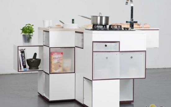Нестандартный дизайн корпусной современной мебели