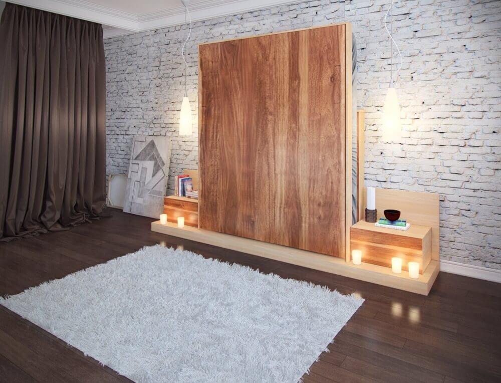 Невидимая кровать шкаф