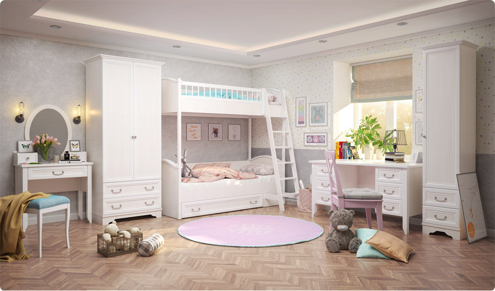 Новая детская комната в классическом стиле