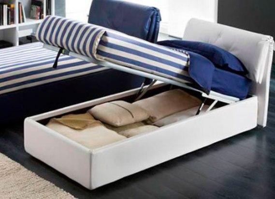 Односпальная удобная кровать с подъемным механизмом