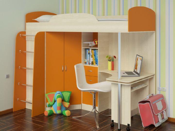 Оранжевые предметы мебели для детской комнаты