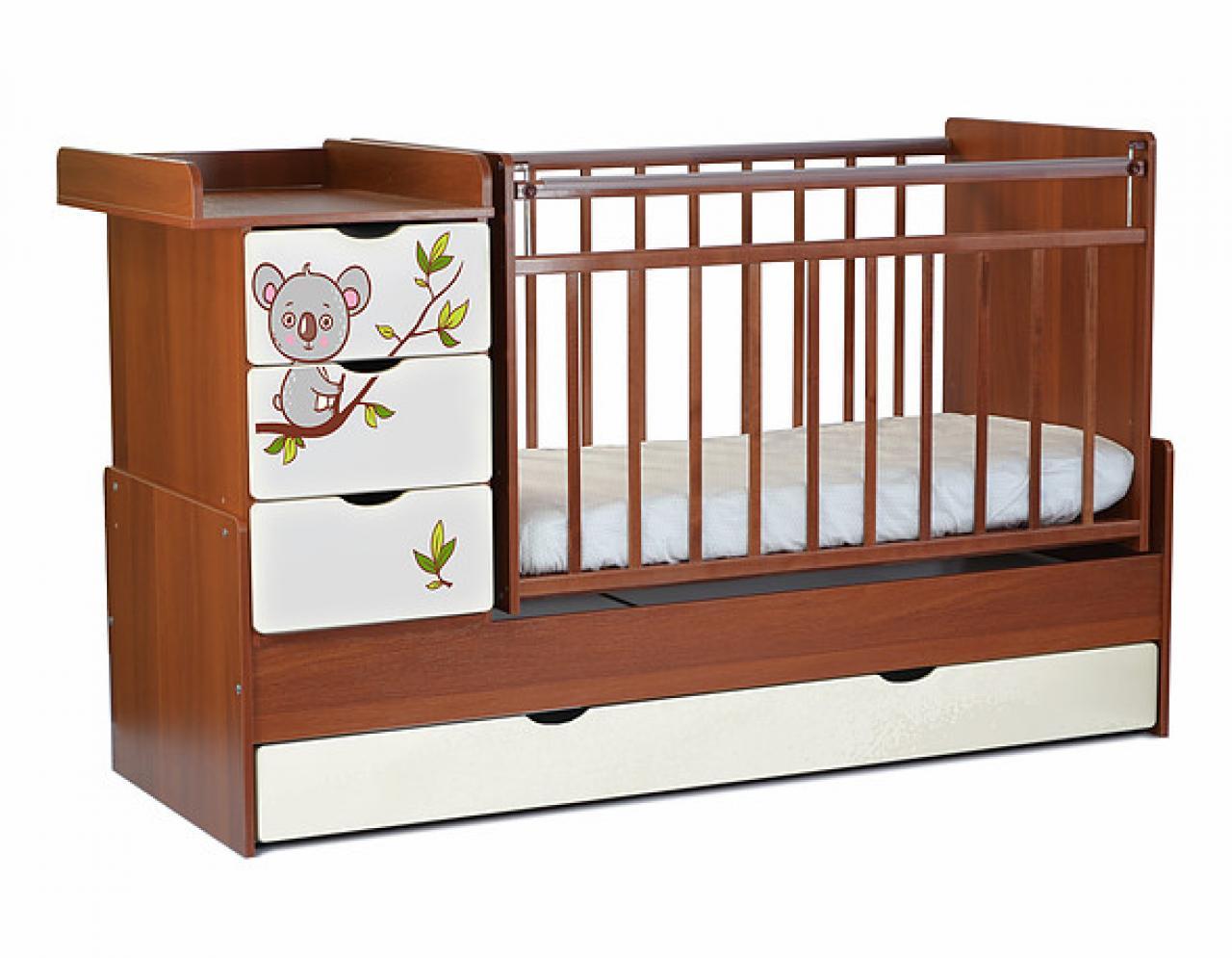 Оригинальная деревянная кроватка для ребенка