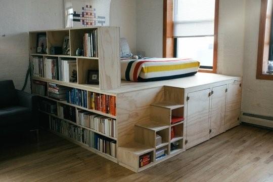 Оригинальная кровать-подиум