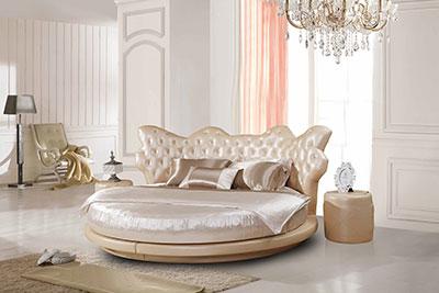 Оригинальная круглая кровать для дома