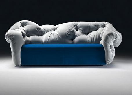 Оригинальная спинка современного дивана