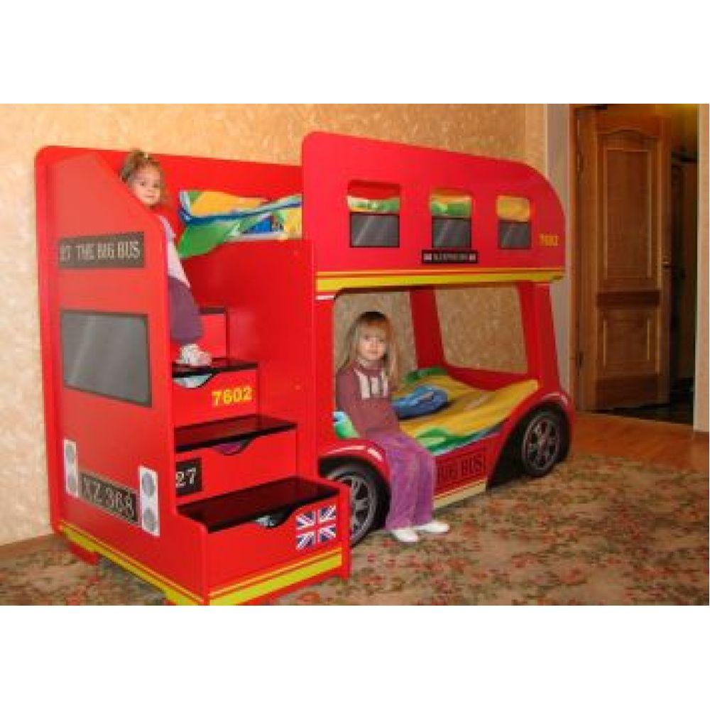 Оригинальное обустройство комнаты для двоих детей