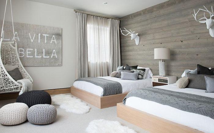 Оригинальное оформление комнаты для сна