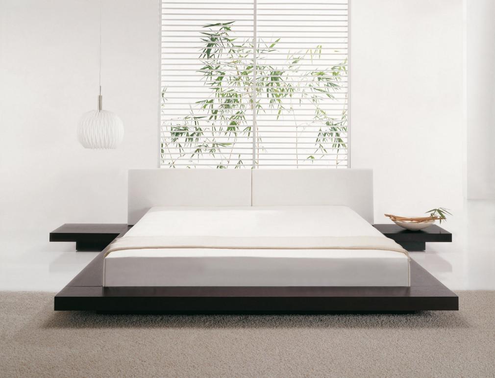 Оригинальный дизайн белой кровати