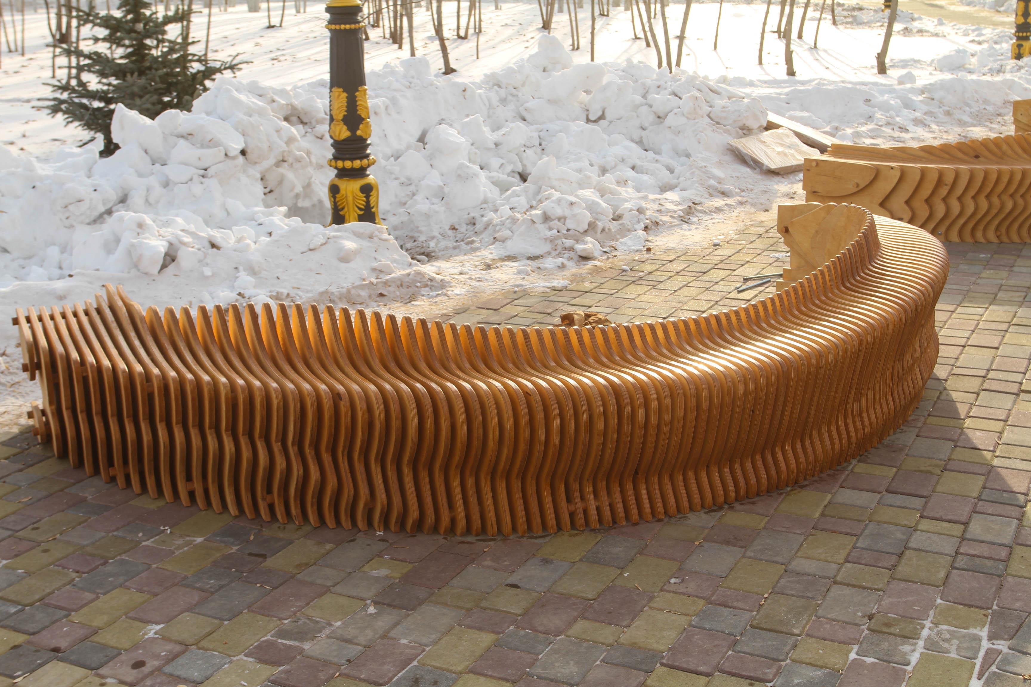 Параметрическая мебель для улицы