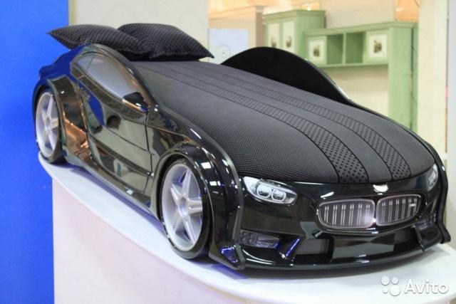 Пластиковая кровать машина BMW