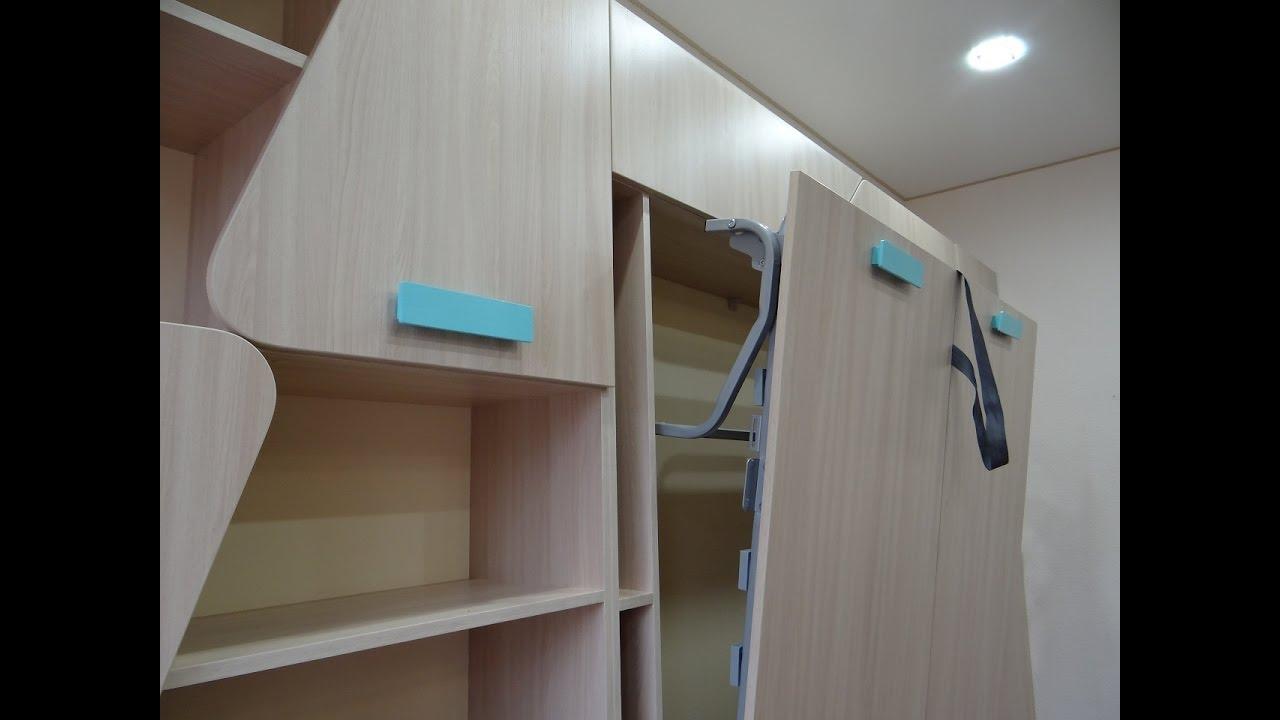 Подъемная двуспальная кровать трансформер
