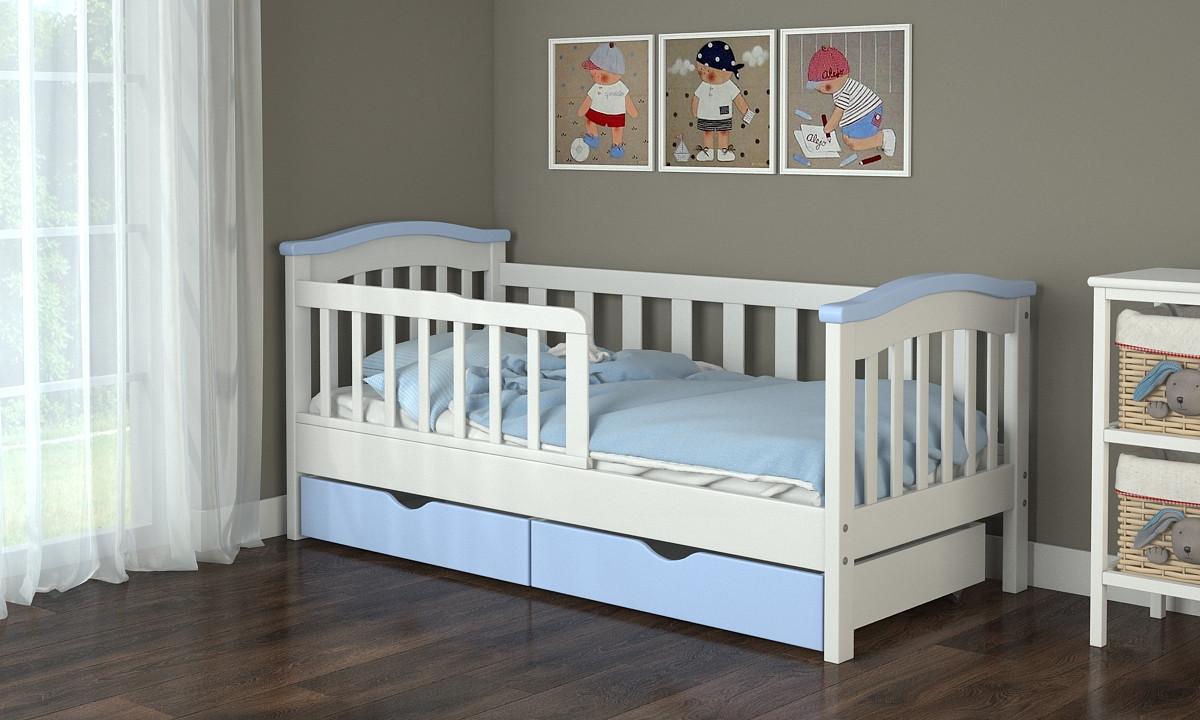 Подростковая кровать с бортиком для мальчиков