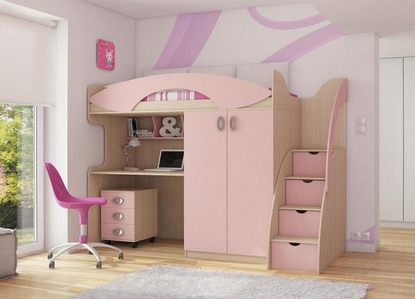 Практичный каркас двухъярусной мебели для дома