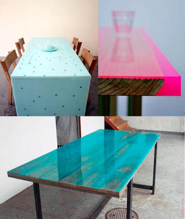 Предметы интерьера из эпоксидной смолы-столы