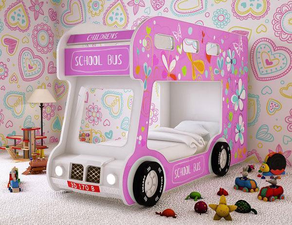 Преимущества кроватей в форме машин для девочки