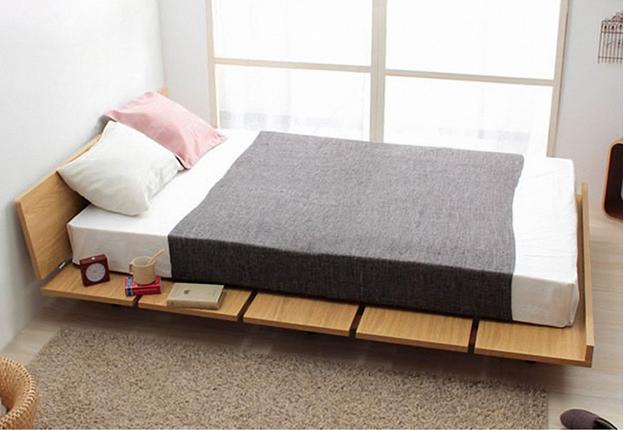 Применение низких кроватей в интерьере