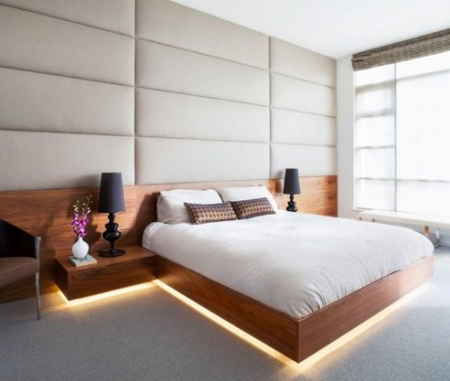 Применение светодиодной ленты в интерьере спальни