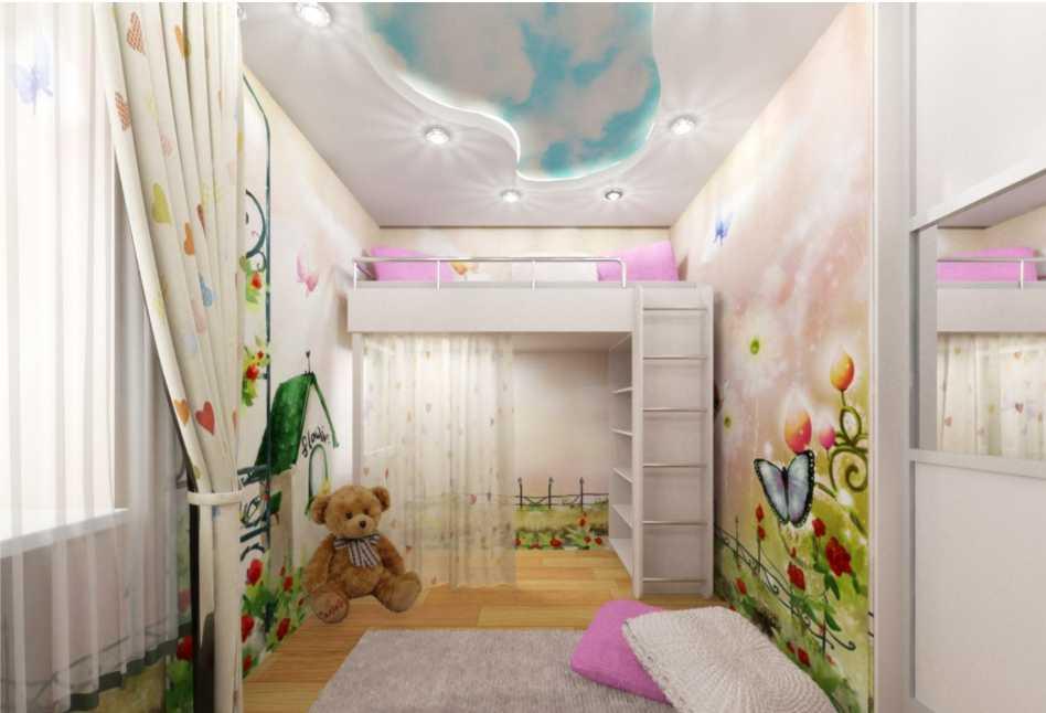 Приятный интерьер комнаты ребенка