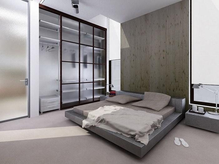 Прозрачные материалы для мебели визуально расширят спальню
