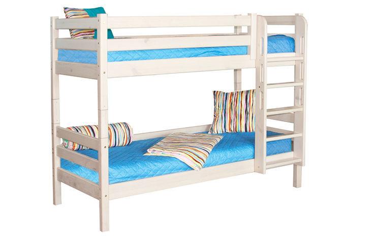 Прямая двухъярусная кровать