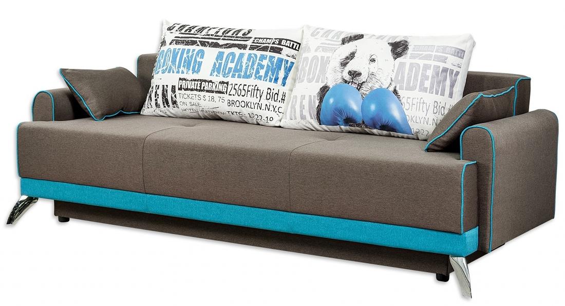 Прямой диванчик серого цвета