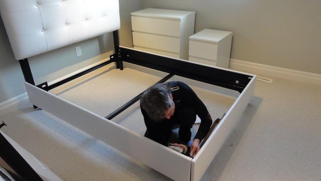 Разборка кровати для ремонта