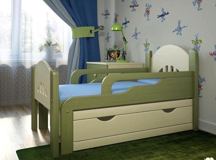 Раздвижная кровать детской серии