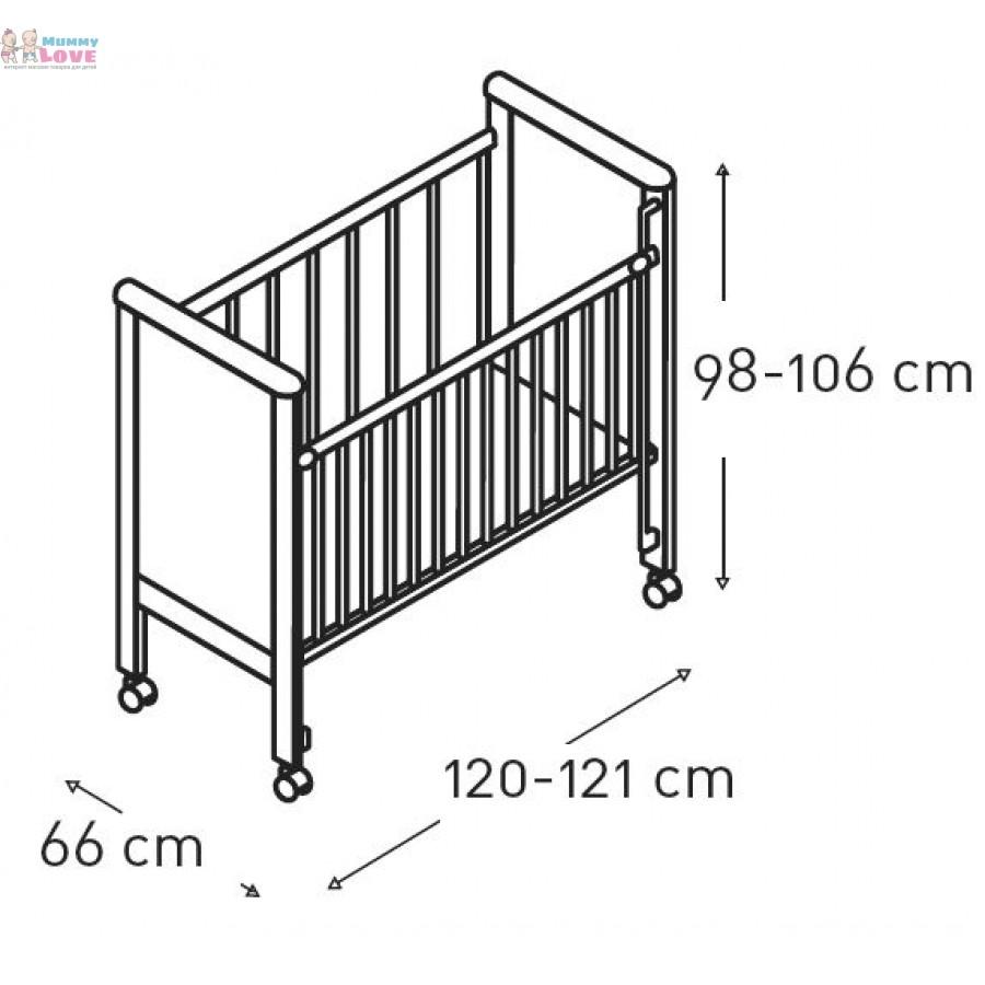 Размер кроватки для новорожденных