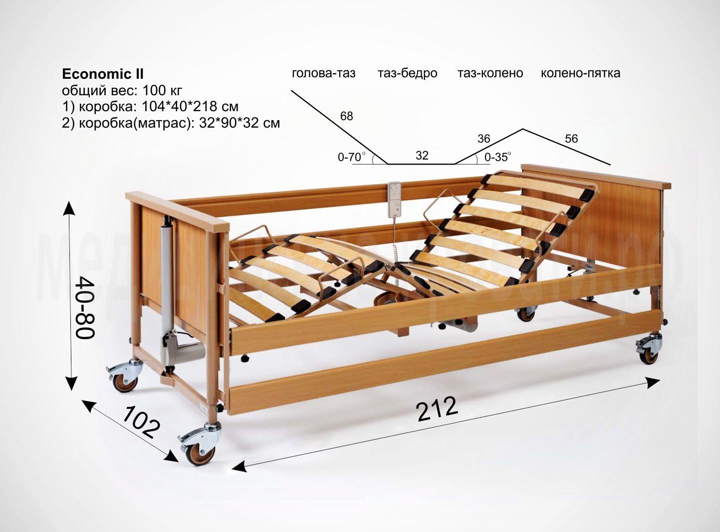 Размеры медицинской кровати